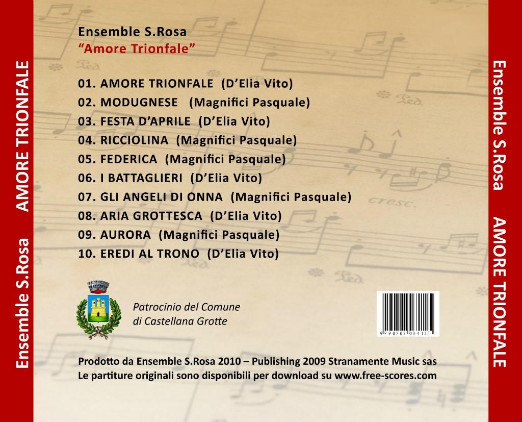 Brani cd Amore Trionfale